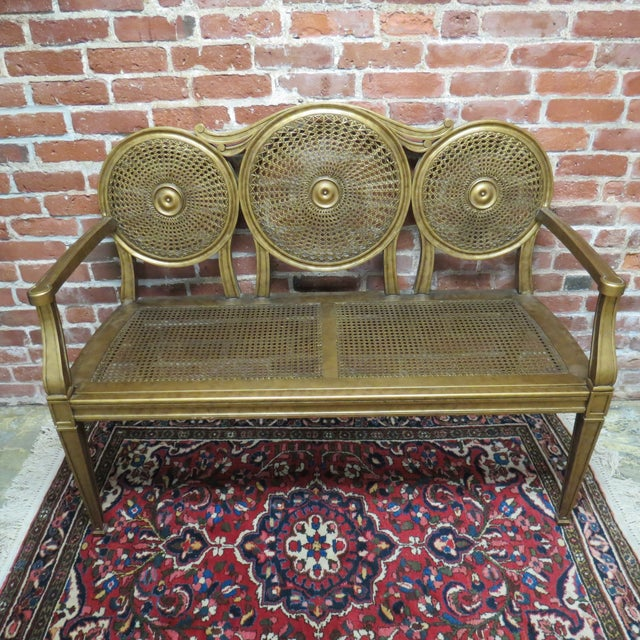 Vintage Gold Bench by Silver Back - Image 2 of 6