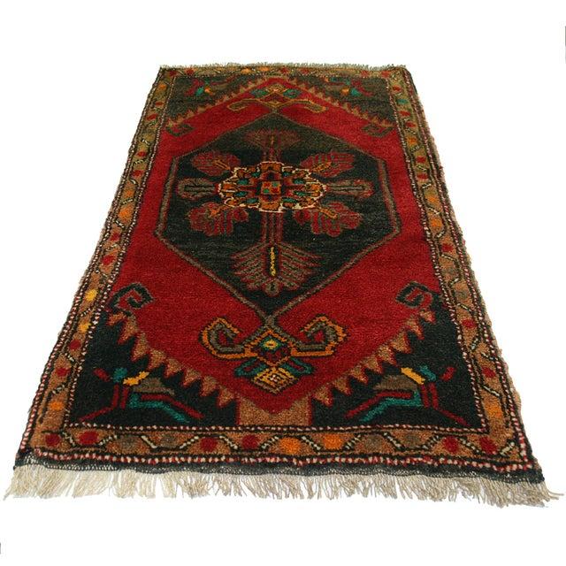 "Vintage Kurdish Carpet - 1'11"" X 3'4"" - Image 2 of 2"
