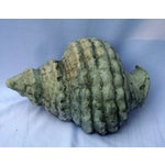 Image of Vintage Gray Seashell Conch Sculpture