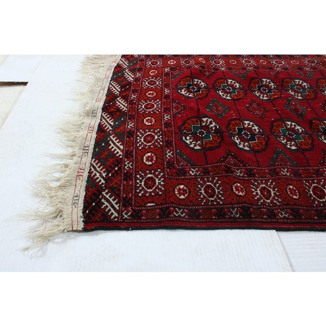 """Hand-Knotted Bokhara Rug - 2'10"""" X 4'5"""" - Image 3 of 3"""