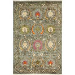 """Suzani Hand Knotted Area Rug - 4' 3"""" X 6' 1"""""""