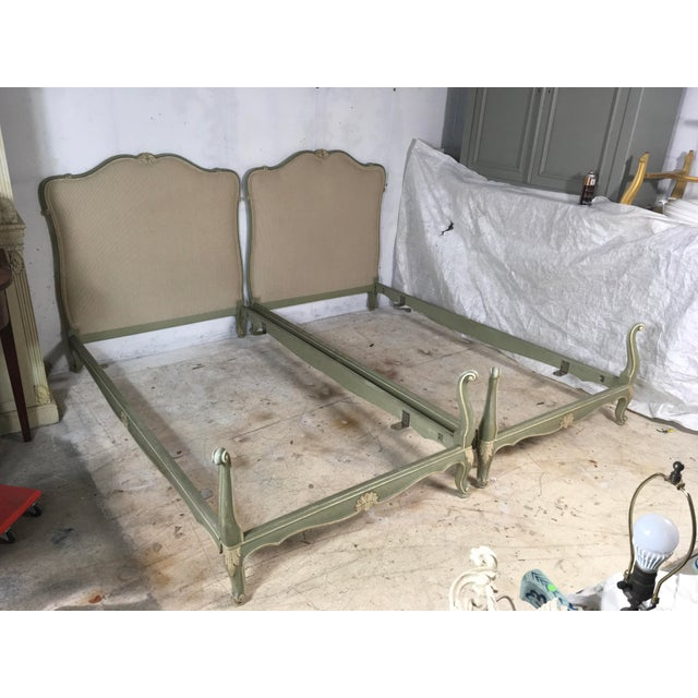 Image of 1930s Carved French Twin Beds - A Pair