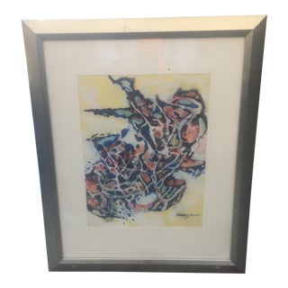 Mid-Century Abstract Painting by H. Kruger