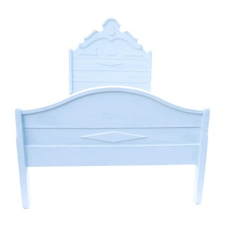 Antique White Country Cottage Bed