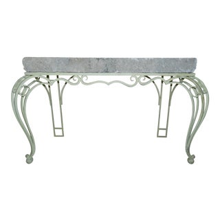 Keystone Top Iron Console Table