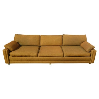 Mid Century Modern Gold Sofa on Castors