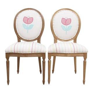 Louis XIV Ava Chairs - a Pair