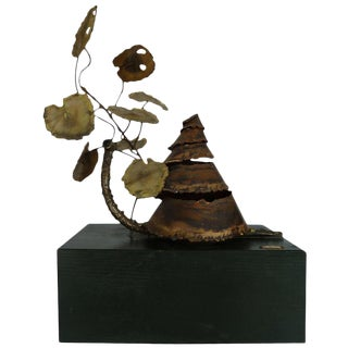 Curtis Jere Brass Sculpture