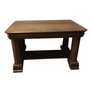 American Solid Oak Pillar Desk