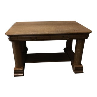 American Solid Oak Pillar Desk