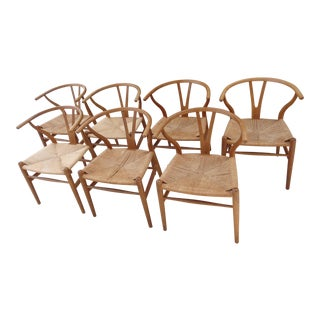 Hans Wegner Danish Modern Wishbone Chairs - Set of 7