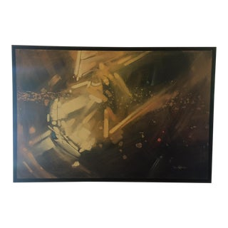 Framed Abstract Painting by Dan Nelson