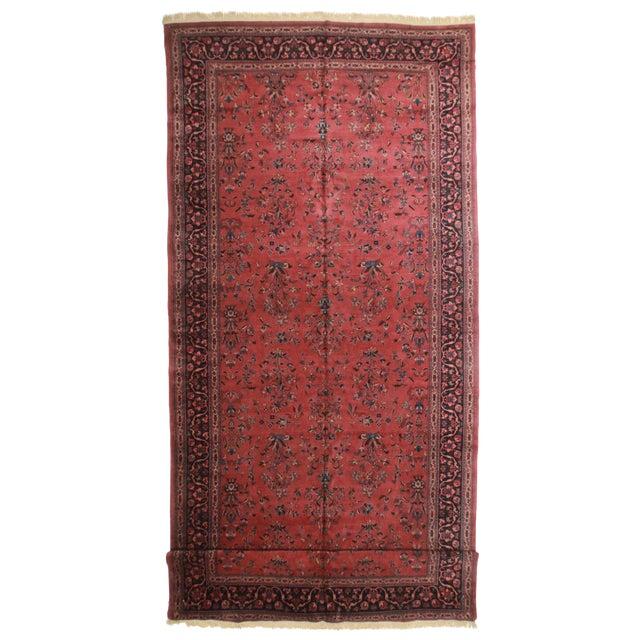 "RugsinDallas Persian Sarouk Wool Rug - 9'7"" X 23'5"" - Image 1 of 2"