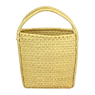 Coconut Palm Market Basket with Handles