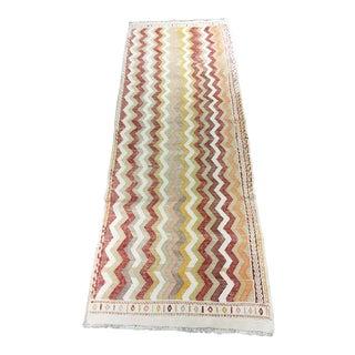 """Vintage Turkish Hemp Weave Kilim Rug- 2'5"""" x 7'1"""""""