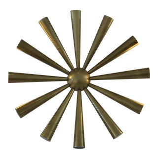 Mid-Century Brass Starburst Sculpture