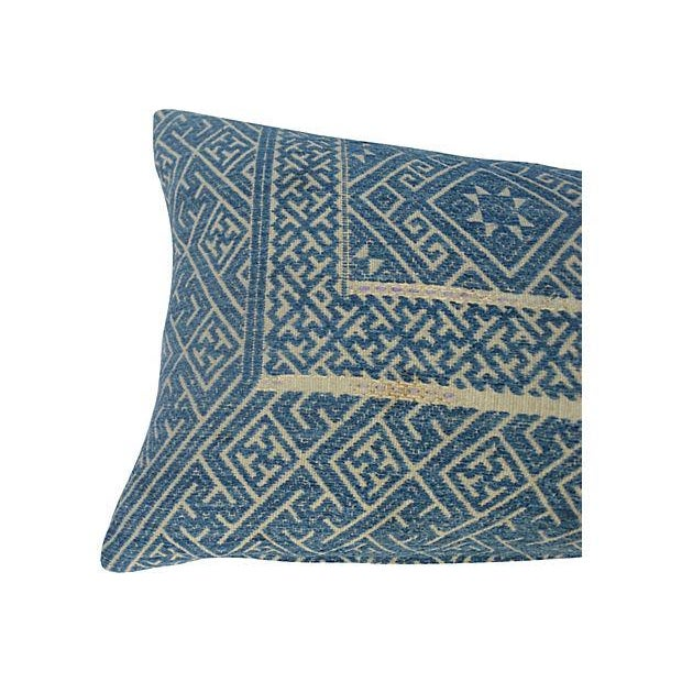 Image of Chinese Indigo Wedding Quilt Pillow