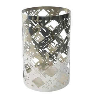 Mayfair Brushed Trellis Hurricane Candle Holder
