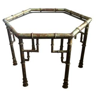 Chinoiserie Metal Bamboo Cocktail Table