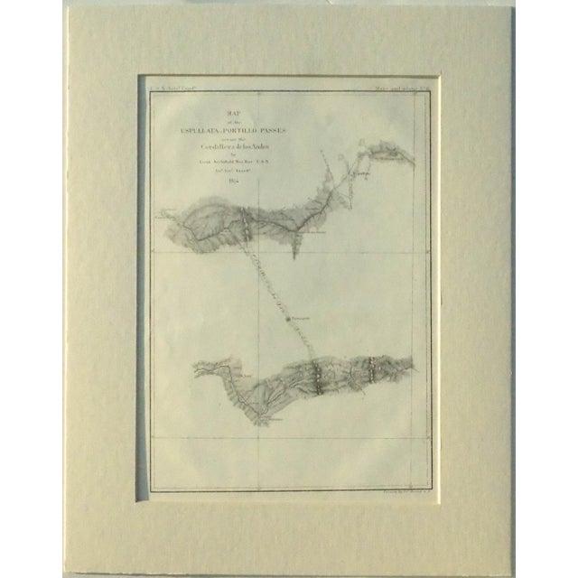 Santiago, Chili Uspullata & Portillo Passes, 1855 Map - Image 3 of 8