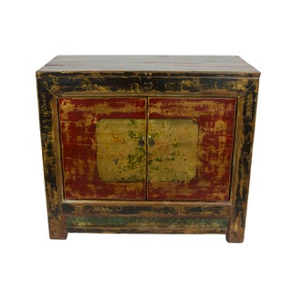Distressed Red Mongolian Chest