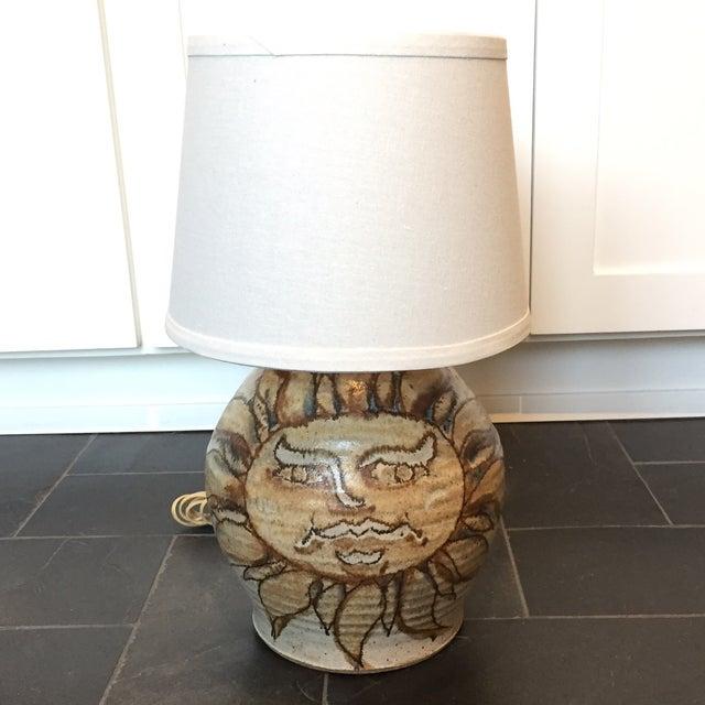 Vintage Studio Pottery Sun Lamp - Image 2 of 7