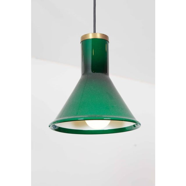 Green Glass Pendant Lamp by Holmegaard - Image 4 of 4