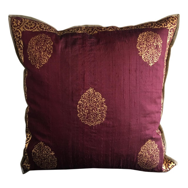 Image of Luxury Silk Blockprint Pillow - A Pair