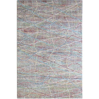 Multi Color Scribble Rug - 5'3'' x 7'7''