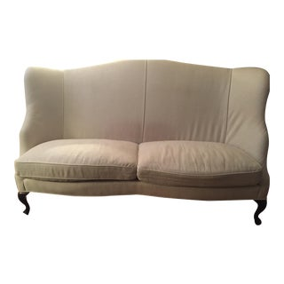 Custom High Back Linen Sofa / Loveseat
