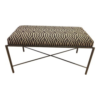 Serpentine Jacquard Upholstery Bench