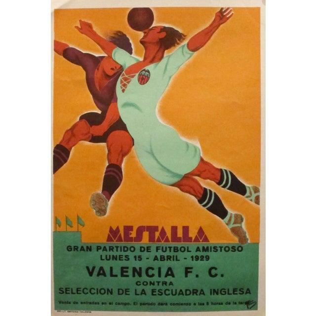 Original Vintage 1929 Soccer Poster for Spain - Image 1 of 4