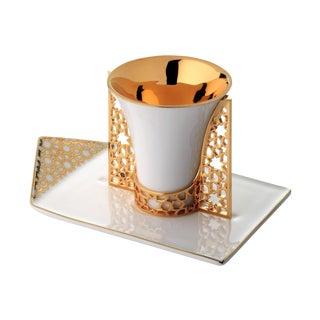 Gold Arabesque Cup, Holder, & Saucer - Set of 3*