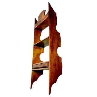 Vintage Handmade Wooden Hanging Display Shelf