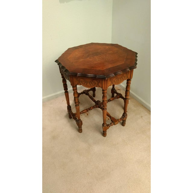 Antique Eight-Leg Octagonal Side Table - Image 4 of 4