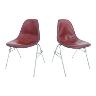 Herman Miller Eames Fiberglass Shell Chairs - Pair