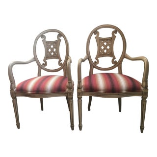 Upholstered Gustavian Chairs - A Pair