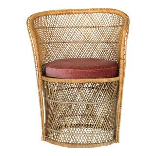 Petite Bohemian Wicker Chair