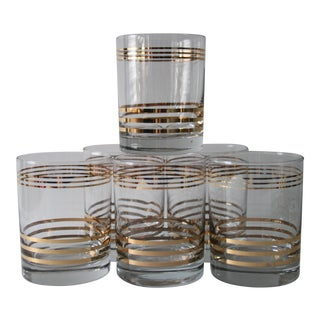Gold Band Cocktail Glasses - Set of 6