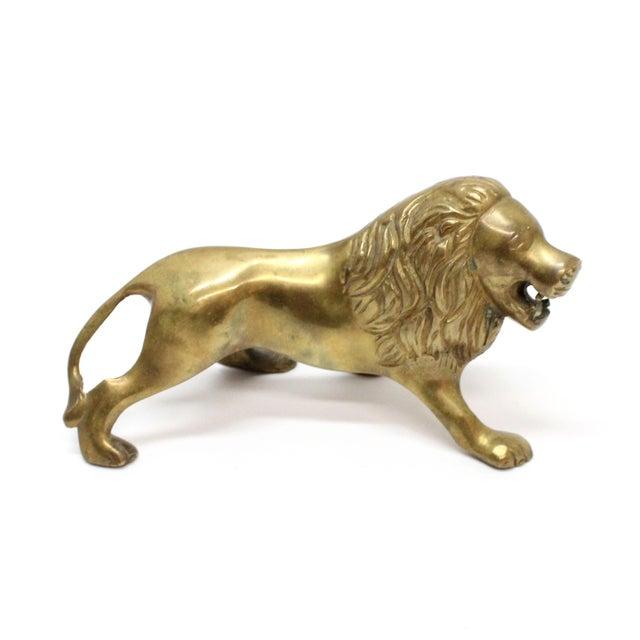 Vintage Mid-Century Brass Lion - Image 3 of 5