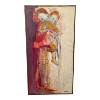 Framed Mother and Child Abstract Painting by Bradbeer