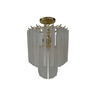 1970s Lucite Prism Hanging Light
