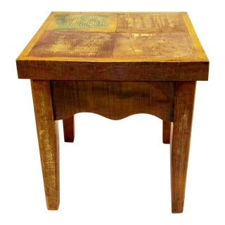 Reclaimed Solid Wood Stool