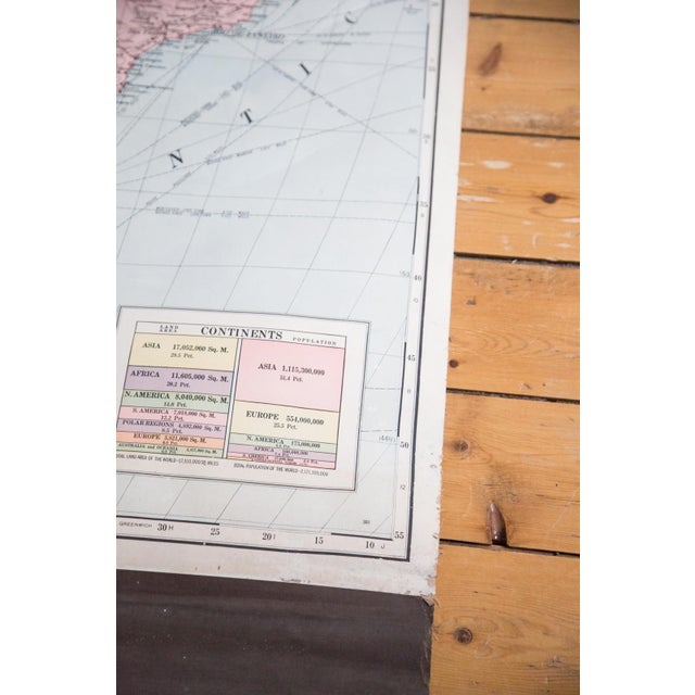 Vintage Cram's Pull Down Map of South America - Image 3 of 5