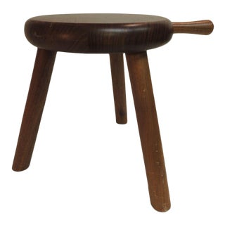 Vintage Wood Milking Stool