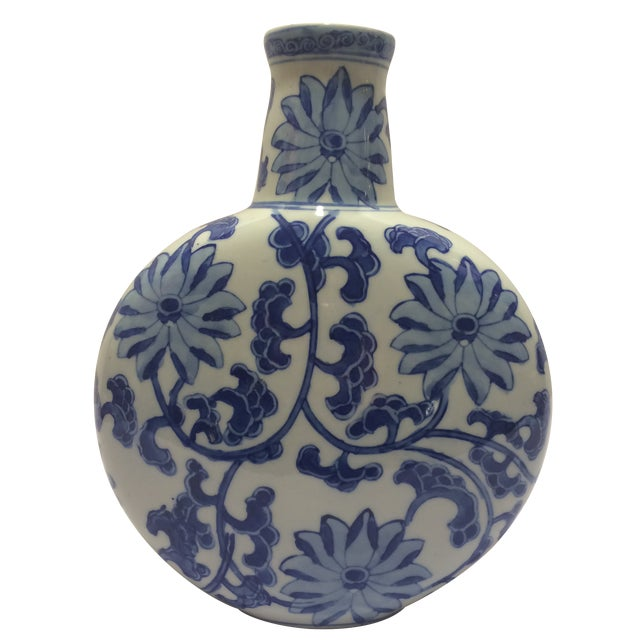 Chinosorie Vase in Blue with Floral Details - Image 1 of 6