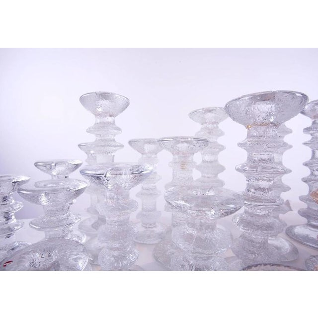 """1970s """"Ice Crystal"""" Candlesticks - Set of 36 - Image 3 of 5"""