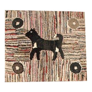 1920-1930 Mounted Pictorial Dog Rug