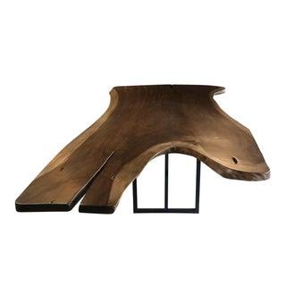Solid Wood Single Slab Dining Table