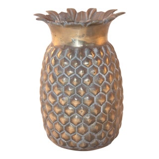 Vintage Brass Pineapple Vase